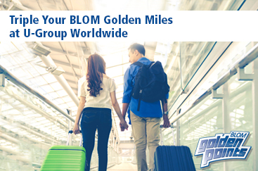 Triple your BLOM Golden Miles by using your BLOM card at U-Group Worldwide