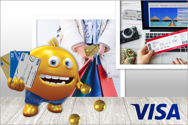 Collect points with your BLOM Visa Debit card