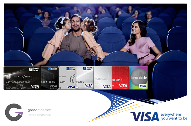 Get 50% off at Grand Cinemas with your BLOM Visa card