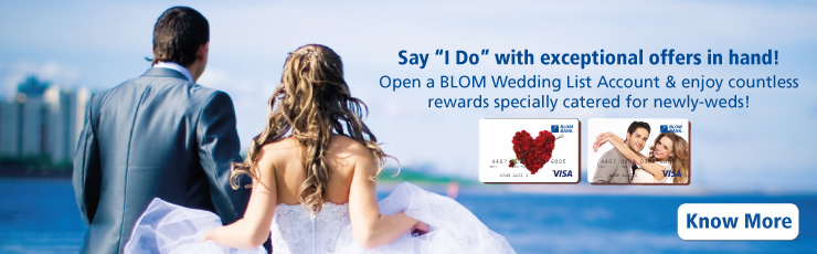 BLOM BAnk wedding List 2015